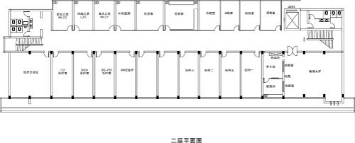 许昌玛丽医院二层科室分布平面图