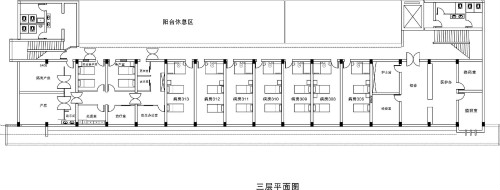 许昌玛丽医院三层科室分布平面图