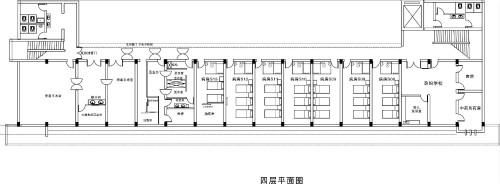 许昌玛丽医院四层科室分布平面图