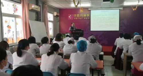 许昌市中心医院妇产科主任朱建春亲临授课